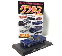 Aoshima 1/64 Grachan 12 LB Works Hakosuka Skyline 2Dr Blue/purple Diecast Car