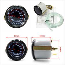 "2""/52mm Car Smoke Tint Lens Red Illuminated Needle LED Psi Turbo Boost Gauge Kit"