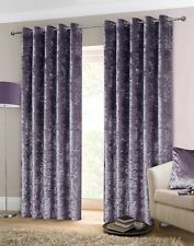 Rapport Luxury Heavy Weight Fully Lined Crushed Velvet Curtains Eyelet Amethyst