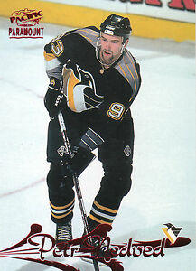 97-98 PACIFIC PARAMOUNT RED #153 PETR NEDVED PENGUINS *10285