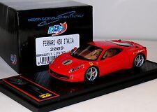 FERRARI 458 ITALIA 2009 RED BBR BBRC22CLI LIM. 100 PCS 1/43