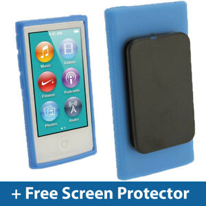 Blue TPU Clip Gel Case for New Apple iPod Nano 7th Generation 7G Cover Shell