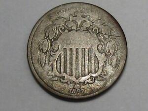 1867 US Shield Nickel. 5¢. #34