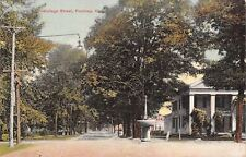 Poultney Vermont~College Street Homes~Horse Trough~Hanging Electric Light~1912