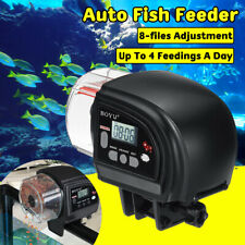 Digital Auto Fish Feeder Feeding Aquarium Tank Automatic Food Dispenser 8