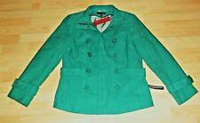 John Richmond GREEN twill Peacoat Double Breasted zip JACKET Coat 16 UK £75 bnwt