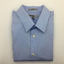 EXPRESS 1MX -Light Blue Long Sleeve Button Dress Shirt M 15-15.5 TALL FITTED Men