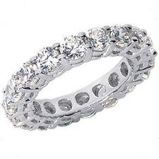 4.25 ct Round Diamond Ring 18k White Gold Eternity Band F-G Vs/Si1 0.25 ct each