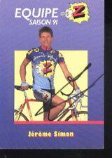 JEROME SIMON cyclisme cp cycling signée Z PEUGEOT 91