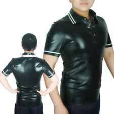 AngelDis latex t-shirt polo shirt mans shirt short sleeve differ color #03029b