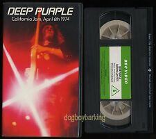 Deep Purple California Jam PAL VHS early UK issue BBC green label video tape