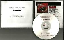 JOY ASKEW London Rain 2007 USA PROMO Radio DJ CD Single  MINT
