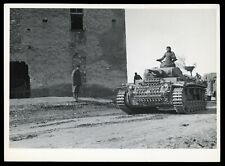 1941 WWII German Panzer Tank & Commander in Action Type 1 Original Photo