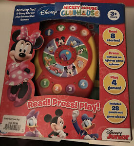 Disney Mickey Mouse Clubhouse Activity Pad Interactive Game Book Education Learn