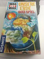 """Quiz Spiel Kinder ab 8 Jahre Was ist was-unsere Erde/Quiz Spiel"""" Kosmos wie neu"""