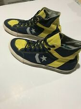 Men's Converse All-Stars blue/Yellow Canvas High Tops. Size 11.5