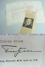 Intendant Dirigent Heinz TIETJEN (1881-1967): 2 Briefe BERLIN 1951/54 → Sängerin