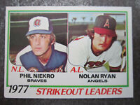 Strikeout Leaders #206 Topps 1978 Baseball Trading Card (L1T)