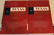 Torts - Texas Practice Guide, 2017-2018, by Nunnally and Franklin (Volumes 3-4)