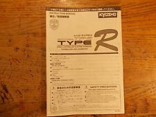 Kyosho TF-2 Type R Manual - Pure Ten Spider TF-2 TF2 series