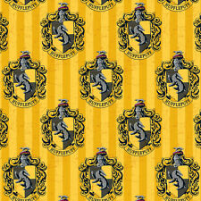 Camelot Fabric Harry Potter Hufflepuff House PER METRE Digitally Printed License