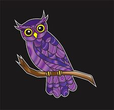 Owl Curious Owl Stained Glass Style Vinyl Decal for Car Truck Decor Waterproof