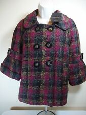 "Neslay Paris Long Sleeve Button Sweater/Jacket  MULTICOLOR SIZE LARGE ""FREE SHIP"