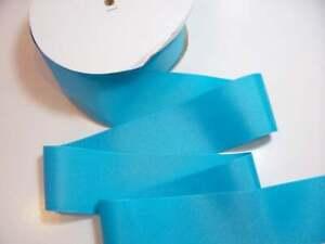 """Wide Blue Ribbon, Grosgrain Ribbon 2 1/4"""" wide x 50 yds, Schiff Misty Turquoise"""