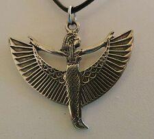 ISIS GODDESS PENDANT NECKLACE EGYPTIAN NEW PEWTER #1