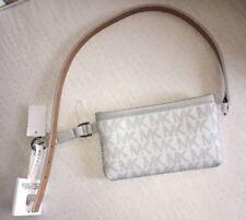 582bb4541616 MICHAEL KORS Fanny Pack Belt MK Logo Bag 551749C Gray Size M Free Shipping