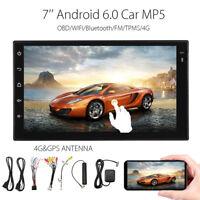 ANDROID 6.0 4G WIFI 7'' HD 2 DIN GPS BLUETOOTH AUTORADIO MP5 FM OBD TPMS 1G+16G
