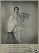 40's Otto Fenn Photographed Bergdorf's Ermine Fur Ad  1949