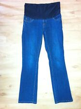 Ladies SZABO Maternity Jeans Size Small 8-10 Blue Denim Over Belly