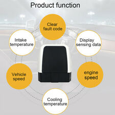V08 Mini OBD2 Scanner ELM327 OBD2 Bluetooth 4.0 16-Pin & LED for Android  iOS xa