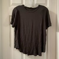 Rags II Riches Women's Brown/Grey Scoop Neck Basic Tee size L
