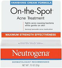3 Pack Neutrogena Vanishing Cream On-The-Spot Acne Treatment Max Strength .75oz