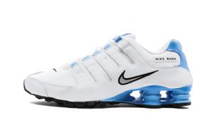 Nike Shox NZ WHITE UNIVERSITY BLUE BLACK GREY 501524-108 Retro Running Men's