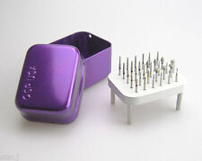 30 Assorted Dental Diamond Polishing Burs FG 1.6mm + 1 Sterilizer Burs Holder