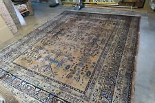 Antique Indo Sarouk Lilihan Kashan Persian Hand Knotted Wool Rug 8'9 x 11'6