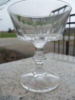 WATERFORD Crystal Ireland Sherbert Water Goblet Cut Wine Clear Stem Glass