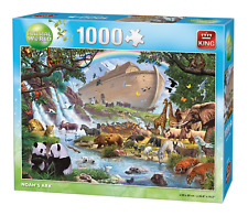 1000 Piece Animal World Jigsaw Puzzle Noah's Ark Endangered Wildlife Boat 05330