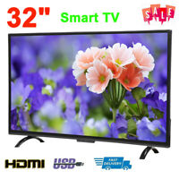 32 Inch Smart HD LED LCD TV HDR Color Screen 3000R Television Player HDMI USB AV