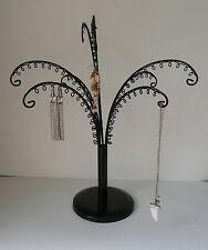 JEWELLERY earring bracelet DISPLAY STAND black metal storage tree