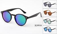 Flash Mirror 12 Pairs New Unisex Fashion Plastic Designer Sunglasses Wholesale