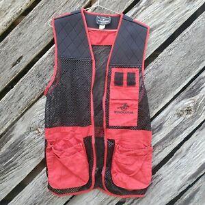 WINCHESTER Red Black Trap Skeet Shooting Hunting Vest Sz  Medium Excellent