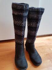 Tolle UGG-Boots, schwarz, Leder, 39 (38), Topzustand