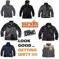 Scruffs & Hardcore Jackets Coats Bodywarmer Hoodies Fleece Various Styles & Size