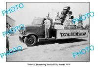 OLD 8x6 PHOTO BOURKE NSW TOOHEYS BEER ADVERTISING TRUCK c1930