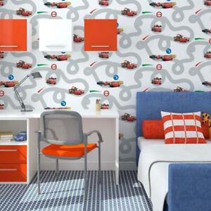 Disney Cars Racetrack White Character Wallpaper 52cm x 10m