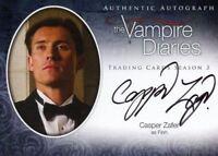 Vampire Diaries Season Three Casper Zafer as Finn Autograph Card A20